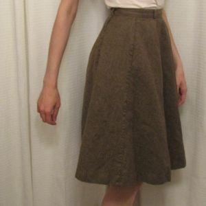 Vintage Wool Fall Winter Skirt